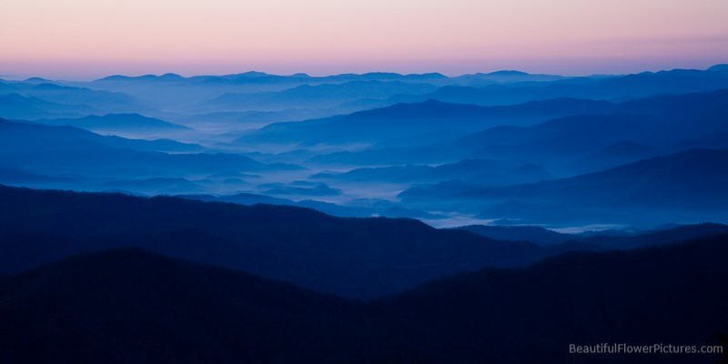 Sunrise at Clingman's Dome in the Great Smoky Mountains National Park
