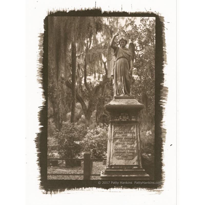 Aaron Wilbur Graveyard Angel Bonaventure Cemetery Savannah Georgia Palladium Toned Kallitype