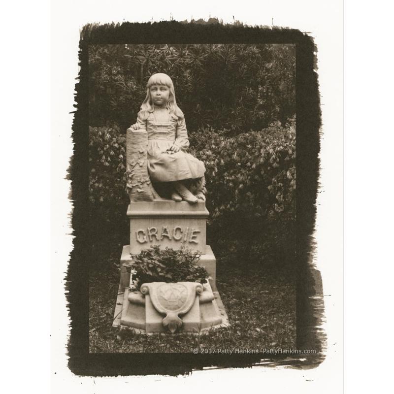 Gracie Watson Grave Bonaventure Cemetery Savannah Palladium Toned Kallitype