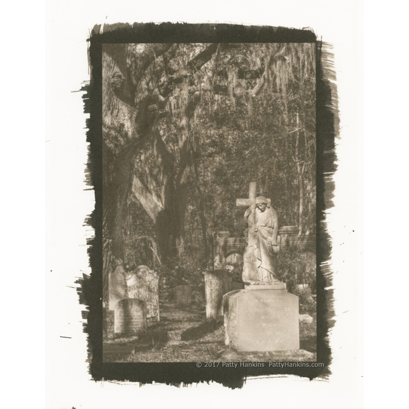 Jennie Stevens Wescott Grave, Edisto Island, South Carolina Palladium Toned Kallitype