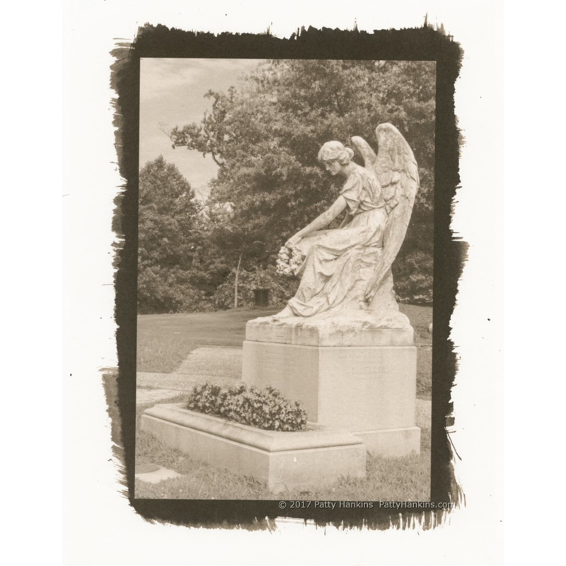 Varina Davia Graveyard Angel, Hollywood Cemetery, Richmond, Virginia Palladium Toned Kallitype