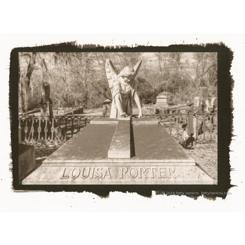 Louisa Porter Grave, Laurel Grove Cemetery, Savannah, Georgia, Palladium Toned Kallitype